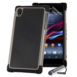 Sony Xperia Z1 Dual Layer Shockproof Case - Grey Mobile phones
