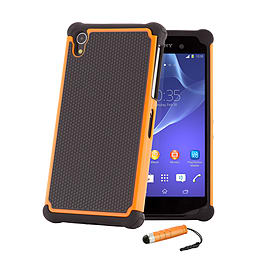 Sony Xperia Z1 Dual Layer Shockproof Case - Orange Mobile phones