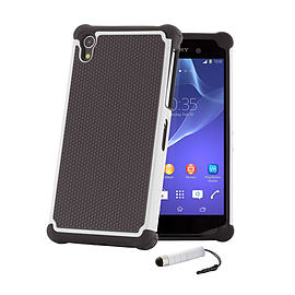 Sony Xperia Z1 Dual Layer Shockproof Case - White Mobile phones