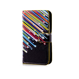 Sony Xperia Z1 Compact Stylish PU Leather Design Book Case - Shooting Stars Mobile phones
