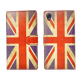 Sony Xperia Z1 Compact Stylish PU Leather Design Book Case - Union Jack Mobile phones