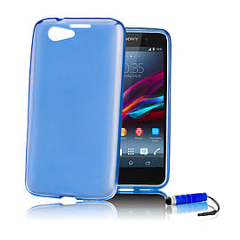 Sony Xperia Z1 Compact Ultra Slim Crystal Gel Case - Deep Blue Mobile phones