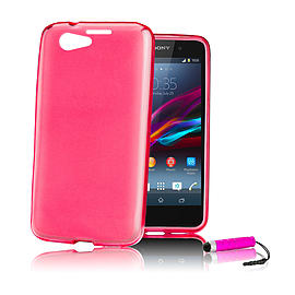 Sony Xperia Z1 Compact Ultra Slim Crystal Gel Case - Hot Pink Mobile phones