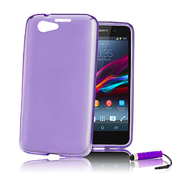 Sony Xperia Z1 Compact Ultra Slim Crystal Gel Case - Purple Mobile phones