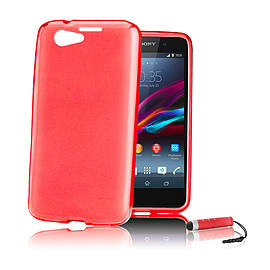 Sony Xperia Z1 Compact Ultra Slim Crystal Gel Case - Red Mobile phones