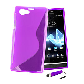 Sony Xperia Z1 Compact Ultra Slim S-Line Case - Purple Mobile phones