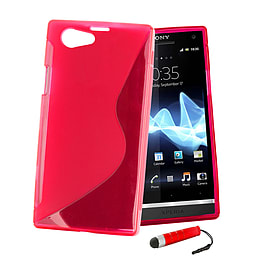 Sony Xperia Z1 Compact Ultra Slim S-Line Case - Red Mobile phones