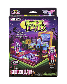 Lite Brix Moonlight Monsters Ghoulish Glamz Boutique Figurines and Sets