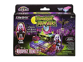 Lite Brix Moonlight Monsters Vampire Vanity Figurines and Sets