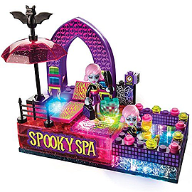Lite Brix Moonlight Monsters Spooky Spa Figurines and Sets