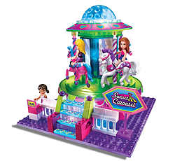 Lite Brix Sunset Mall Carousel Figurines and Sets