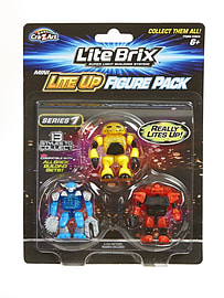 Lite Brix Mini Lite-up Figure Pack Figurines and Sets