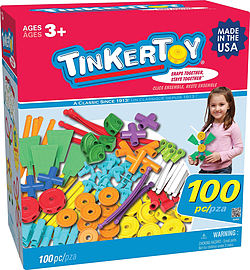 Tinkertoy Essentials Value Set (100-Pieces) Figurines and Sets