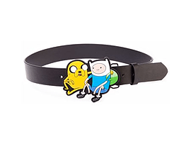 Adventure Time Black Belt With Jake and Finn 2d Buckle, Small Clothing