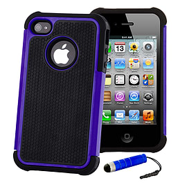 Apple iPhone 4/4s Dual Layer Shockproof Case - Deep Blue Mobile phones