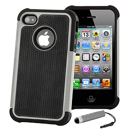 Apple iPhone 4/4s Dual Layer Shockproof Case - Grey Mobile phones