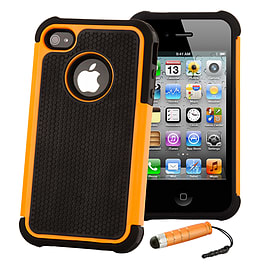 Apple iPhone 4/4s Dual Layer Shockproof Case - Orange Mobile phones