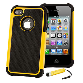 Apple iPhone 4/4s Dual Layer Shockproof Case - Yellow Mobile phones