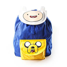 Adventure Time Logo With Eyes Backpack, Blue/yellow Sports Camping and Hiking