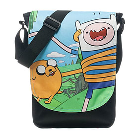 Adventure Time Finn And Jake Top Loader Messenger Bag, Black Sports Camping and Hiking