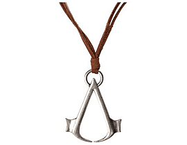 Assassin's Creed Brown Necklace Cord With Metal Symbol Logo Gifts
