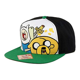Adventure Time Finn And Jake Snapback Baseball Cap, Black/green Clothing