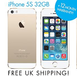 Apple iPhone 5S - 32GB Gold (Unlocked) SIM FREE Smartphone GRADE A Phones