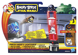 Star Wars Angry Birds Strike Pack Darth Vaders Light Saber Figurines and Sets