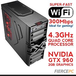 Fierce MARS Overclocked Quad-Core Gaming PC (Athlon X4 860K 4.3GHz, GTX 960 2GB, 8GB, Wifi) PC