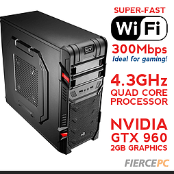 Fierce MARS Overclocked Quad-Core Gaming PC (Athlon X4 860K 4.3GHz, GTX 960 2GB, 8GB, Wifi) PC