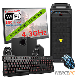 Fierce MARS Quad-Core Gaming PC Bundle, Athlon X4 860K 4.3GHz, GTX 960 2GB, 8GB, Wifi PC