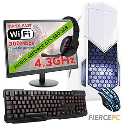 Fierce MARS Quad-Core Gaming PC Bundle, Athlon X4 860K 4.3GHz, GTX 960 2GB, 8GB, Wifi PC