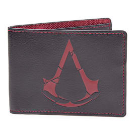 Assassin's Creed Rogue Crest Logo Bi-fold Wallet, Black/red Memorabilia