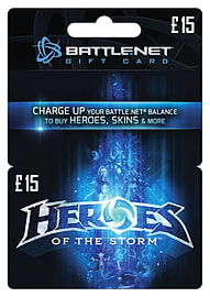 Heroes Of The Storm £15 Credit Top ups Cover Art