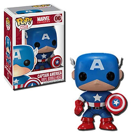 Marvel Universe Captain America (06) Pop Vinyl Bobble-Head Figure Figurines and Sets