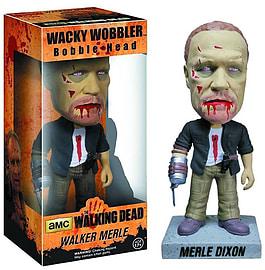The Walking Dead Walker Merle Dixon Zombie Wacky Wobbler Bobble Head Figurines and Sets