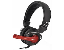 Ngs Vox 369 Dj Stereo Headset With Microphone, Jack 3.5mm, Black/red PC