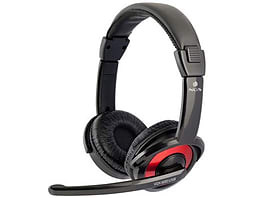Ngs Vox600 Usb Stereo Headset, Black/red PC