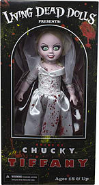Living Dead Dolls- Bride of Chucky 10 Tiffany Bloody Figure Figurines and Sets