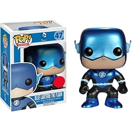 DC Comics- Metallic Blue Lantern: The Flash POP Vinyl Figure (47) Figurines and Sets