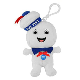 Ghostbusters Stay Puft Marshmallow Man (Smiling) Plush Toy / Keychain Figurines and Sets