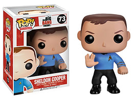 Big Bang Theory Sheldon Cooper (Star Trek Shirt) Pop Vinyl Figure (73) Figurines and Sets