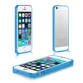 Frostycow Aluminium Metal Bumper Case Cover For Apple iPhone 5 5G 5S Blue Mobile phones