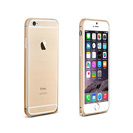 Frostycow Aluminium Metal Bumper Case Cover For Apple iPhone 6 Gold Mobile phones