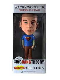 The Big Bang Theory Sheldon (Superman T-Shirt) Talking Bobble Head Figurines and Sets
