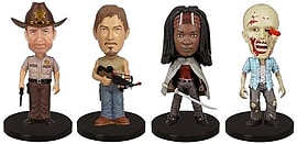 The Walking Dead Mini Bobble-Heads Four Pack Figurines and Sets
