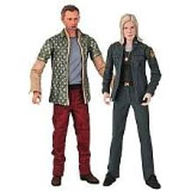 Battlestar Galactica- Leoben & Starbuck Two 7 Figure Set Figurines and Sets