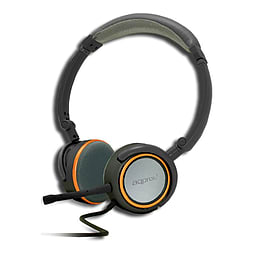 Approx Foldable Stereo Hi-fi Headset With Detachable Microphone, 2m, Grey/orange PC