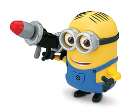 Despicable Me- Minion Dave (With Rocket Launcher) Action Figure Figurines and Sets