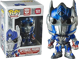 Transformers- Optimus Prime (Metallic) POP Vinyl Figure (101) Figurines and Sets